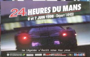 "LE MANS 24 Hours Race 1998 original poster 23x16"" ( 450x600mm)"